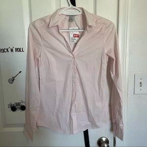 NWT H&M Pink Button Down Dress Shirt Size 0